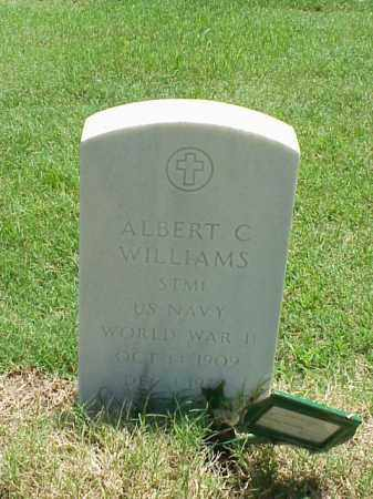 WILLIAMS (VETERAN WWII), ALBERT C - Pulaski County, Arkansas | ALBERT C WILLIAMS (VETERAN WWII) - Arkansas Gravestone Photos