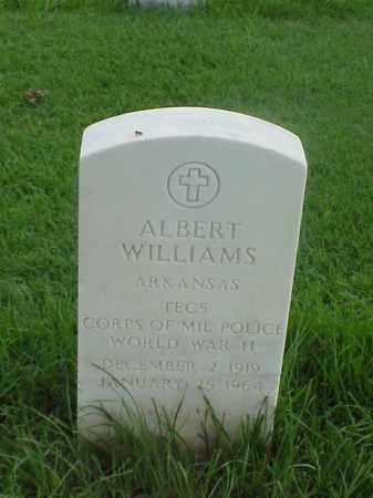 WILLIAMS (VETERAN WWII), ALBERT - Pulaski County, Arkansas | ALBERT WILLIAMS (VETERAN WWII) - Arkansas Gravestone Photos