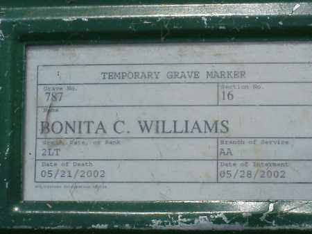 WILLIAMS (VETERAN WWII), BONITA C - Pulaski County, Arkansas | BONITA C WILLIAMS (VETERAN WWII) - Arkansas Gravestone Photos