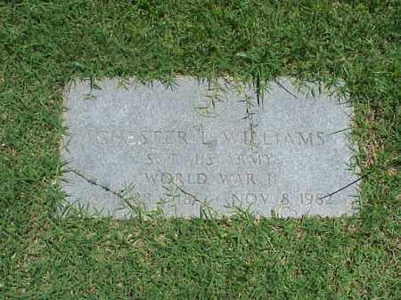 WILLIAMS (VETERAN WWII), CHESTER L - Pulaski County, Arkansas | CHESTER L WILLIAMS (VETERAN WWII) - Arkansas Gravestone Photos