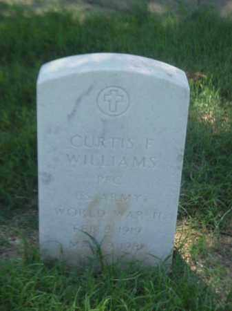 WILLIAMS (VETERAN WWII), CURTIS F - Pulaski County, Arkansas | CURTIS F WILLIAMS (VETERAN WWII) - Arkansas Gravestone Photos