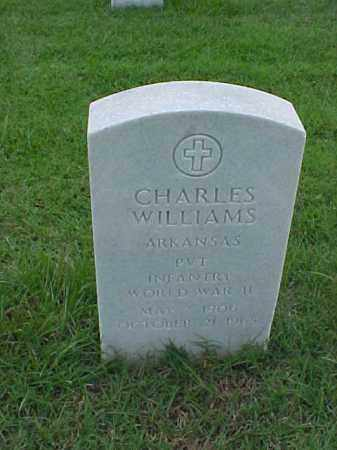 WILLIAMS (VETERAN WWII), CHARLES - Pulaski County, Arkansas | CHARLES WILLIAMS (VETERAN WWII) - Arkansas Gravestone Photos