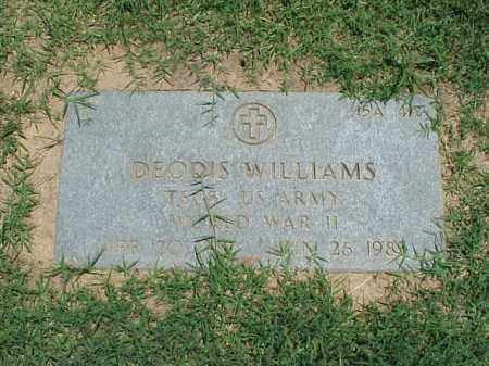 WILLIAMS (VETERAN WWII), DEODIS - Pulaski County, Arkansas | DEODIS WILLIAMS (VETERAN WWII) - Arkansas Gravestone Photos