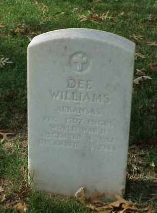 WILLIAMS (VETERAN WWII), DEE - Pulaski County, Arkansas | DEE WILLIAMS (VETERAN WWII) - Arkansas Gravestone Photos