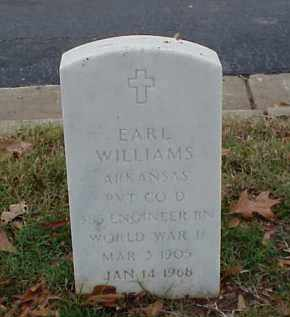 WILLIAMS (VETERAN WWII), EARL - Pulaski County, Arkansas | EARL WILLIAMS (VETERAN WWII) - Arkansas Gravestone Photos