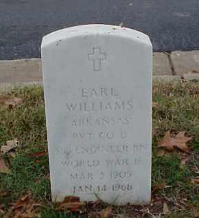 WILLIAMS (VETERAN WWII), EARL - Pulaski County, Arkansas | EARL WILLIAMS (VETERAN WWII) - Arkansas Gravestone Photos
