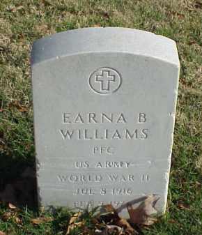 WILLIAMS (VETERAN WWII), EARNA  B - Pulaski County, Arkansas | EARNA  B WILLIAMS (VETERAN WWII) - Arkansas Gravestone Photos