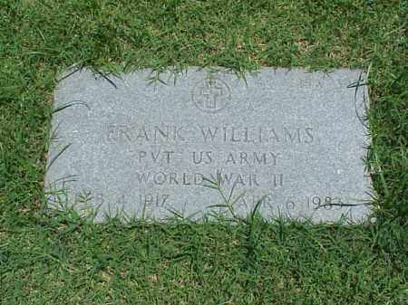 WILLIAMS (VETERAN WWII), FRANK - Pulaski County, Arkansas | FRANK WILLIAMS (VETERAN WWII) - Arkansas Gravestone Photos