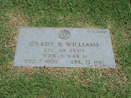 WILLIAMS (VETERAN WWII), GRADY R - Pulaski County, Arkansas | GRADY R WILLIAMS (VETERAN WWII) - Arkansas Gravestone Photos