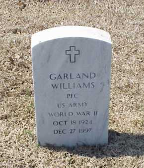 WILLIAMS (VETERAN WWII), GARLAND - Pulaski County, Arkansas | GARLAND WILLIAMS (VETERAN WWII) - Arkansas Gravestone Photos