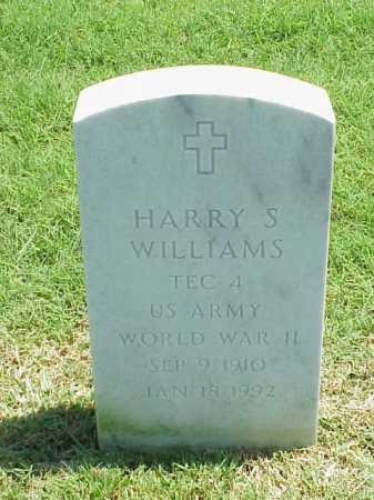 WILLIAMS (VETERAN WWII), HARRY S - Pulaski County, Arkansas | HARRY S WILLIAMS (VETERAN WWII) - Arkansas Gravestone Photos
