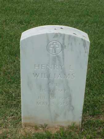 WILLIAMS (VETERAN WWII), HENRY L - Pulaski County, Arkansas | HENRY L WILLIAMS (VETERAN WWII) - Arkansas Gravestone Photos