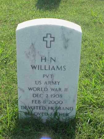 WILLIAMS (VETERAN WWII), H N - Pulaski County, Arkansas | H N WILLIAMS (VETERAN WWII) - Arkansas Gravestone Photos
