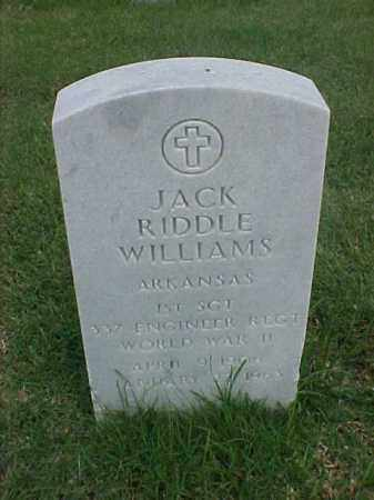 WILLIAMS (VETERAN WWII), JACK RIDDLE - Pulaski County, Arkansas | JACK RIDDLE WILLIAMS (VETERAN WWII) - Arkansas Gravestone Photos