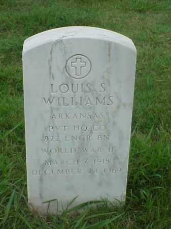 WILLIAMS (VETERAN WWII), LOUIS S - Pulaski County, Arkansas | LOUIS S WILLIAMS (VETERAN WWII) - Arkansas Gravestone Photos