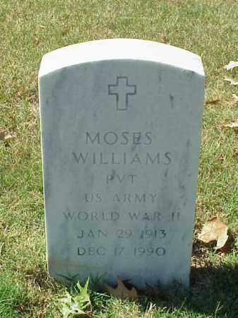 WILLIAMS (VETERAN WWII), MOSES - Pulaski County, Arkansas | MOSES WILLIAMS (VETERAN WWII) - Arkansas Gravestone Photos