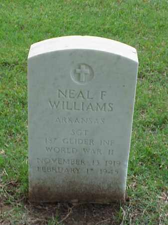 WILLIAMS (VETERAN WWII), NEAL F - Pulaski County, Arkansas | NEAL F WILLIAMS (VETERAN WWII) - Arkansas Gravestone Photos