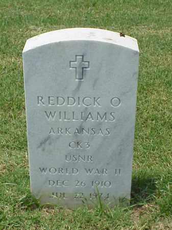 WILLIAMS (VETERAN WWII), REDDICK O - Pulaski County, Arkansas | REDDICK O WILLIAMS (VETERAN WWII) - Arkansas Gravestone Photos