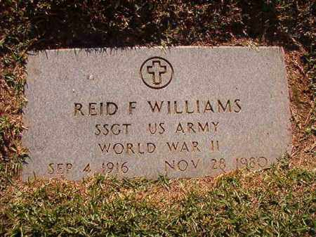WILLIAMS (VETERAN WWII), REID F - Pulaski County, Arkansas | REID F WILLIAMS (VETERAN WWII) - Arkansas Gravestone Photos