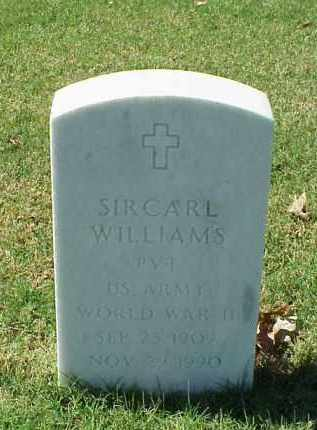WILLIAMS (VETERAN WWII), SIRCARL - Pulaski County, Arkansas | SIRCARL WILLIAMS (VETERAN WWII) - Arkansas Gravestone Photos
