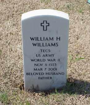 WILLIAMS (VETERAN WWII), WILLIAM H - Pulaski County, Arkansas | WILLIAM H WILLIAMS (VETERAN WWII) - Arkansas Gravestone Photos