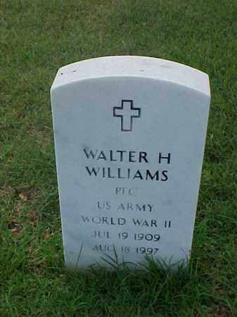 WILLIAMS (VETERAN WWII), WALTER H - Pulaski County, Arkansas | WALTER H WILLIAMS (VETERAN WWII) - Arkansas Gravestone Photos