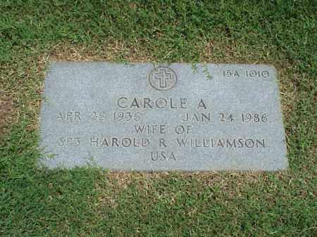 WILLIAMSON, CAROLE A - Pulaski County, Arkansas | CAROLE A WILLIAMSON - Arkansas Gravestone Photos