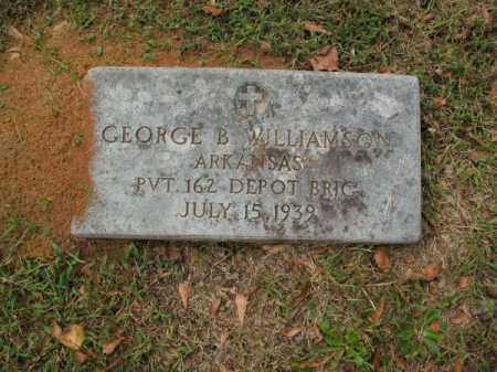 WILLIAMSON (VETERAN), GEORGE B - Pulaski County, Arkansas | GEORGE B WILLIAMSON (VETERAN) - Arkansas Gravestone Photos