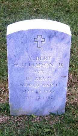 WILLIAMSON, JR,  (VETERAN WWI), ALBERT - Pulaski County, Arkansas | ALBERT WILLIAMSON, JR,  (VETERAN WWI) - Arkansas Gravestone Photos