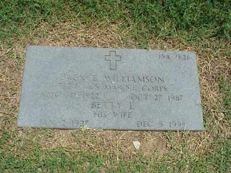 WILLIAMSON (VETERAN WWII), JACK S - Pulaski County, Arkansas | JACK S WILLIAMSON (VETERAN WWII) - Arkansas Gravestone Photos