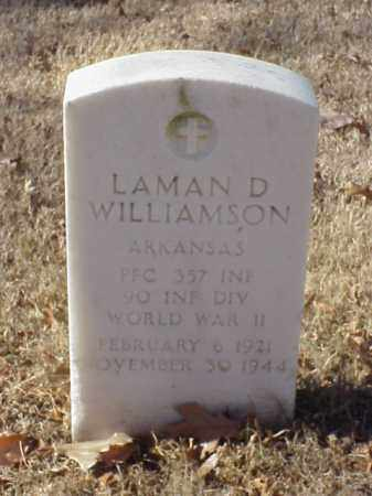 WILLIAMSON (VETERAN WWII), LAMAN D - Pulaski County, Arkansas | LAMAN D WILLIAMSON (VETERAN WWII) - Arkansas Gravestone Photos