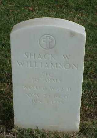 WILLIAMSON (VETERAN WWII), SHACK W - Pulaski County, Arkansas | SHACK W WILLIAMSON (VETERAN WWII) - Arkansas Gravestone Photos