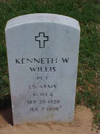 WILLIS (VETERAN KOR), KENNETH W - Pulaski County, Arkansas | KENNETH W WILLIS (VETERAN KOR) - Arkansas Gravestone Photos