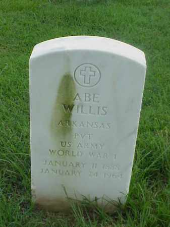 WILLIS (VETERAN WWI), ABE - Pulaski County, Arkansas | ABE WILLIS (VETERAN WWI) - Arkansas Gravestone Photos