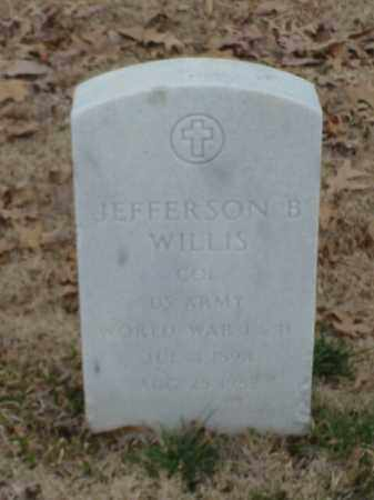 WILLIS (VETERAN 2 WARS), JEFFERSON B - Pulaski County, Arkansas | JEFFERSON B WILLIS (VETERAN 2 WARS) - Arkansas Gravestone Photos