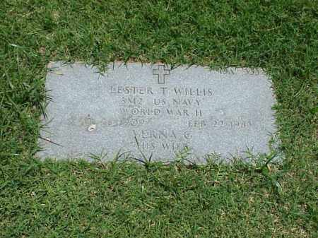 WILLIS (VETERAN WWII), LESTER T - Pulaski County, Arkansas | LESTER T WILLIS (VETERAN WWII) - Arkansas Gravestone Photos