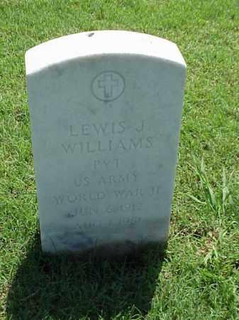 WILLIAMS (VETERAN WWII), LEWIS J - Pulaski County, Arkansas | LEWIS J WILLIAMS (VETERAN WWII) - Arkansas Gravestone Photos