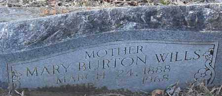 BURTON WILLS, MARY NEW - Pulaski County, Arkansas | MARY NEW BURTON WILLS - Arkansas Gravestone Photos