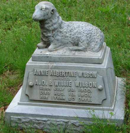 WILSON, ANNIE ALBERTINE - Pulaski County, Arkansas | ANNIE ALBERTINE WILSON - Arkansas Gravestone Photos