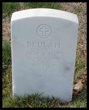 WILSON, BEULAH - Pulaski County, Arkansas | BEULAH WILSON - Arkansas Gravestone Photos