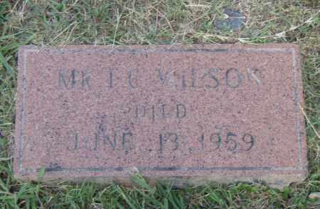 WILSON, I.G. - Pulaski County, Arkansas | I.G. WILSON - Arkansas Gravestone Photos