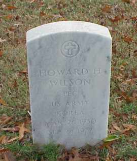 WILSON (VETERAN KOR), HOWARD H - Pulaski County, Arkansas | HOWARD H WILSON (VETERAN KOR) - Arkansas Gravestone Photos