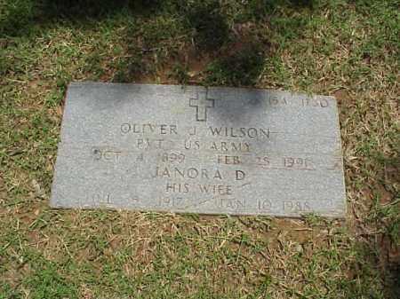 WILSON (VETERAN WWII), OLIVER J - Pulaski County, Arkansas | OLIVER J WILSON (VETERAN WWII) - Arkansas Gravestone Photos