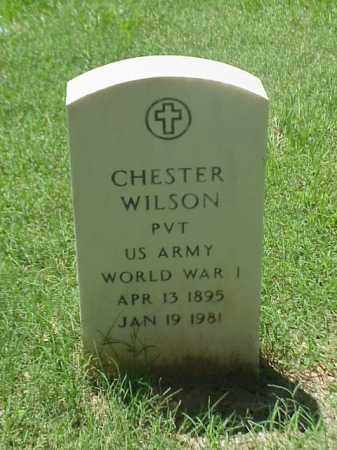 WILSON (VETERAN WWI), CHESTER - Pulaski County, Arkansas | CHESTER WILSON (VETERAN WWI) - Arkansas Gravestone Photos