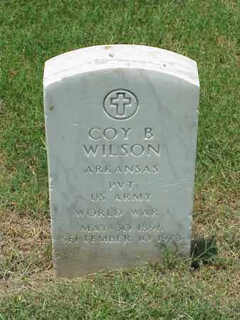 WILSON (VETERAN WWI), COY B - Pulaski County, Arkansas | COY B WILSON (VETERAN WWI) - Arkansas Gravestone Photos