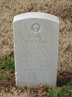 WILSON (VETERAN WWI), DAN - Pulaski County, Arkansas | DAN WILSON (VETERAN WWI) - Arkansas Gravestone Photos