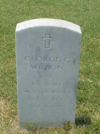 WILSON (VETERAN WWI), GEORGE C - Pulaski County, Arkansas | GEORGE C WILSON (VETERAN WWI) - Arkansas Gravestone Photos