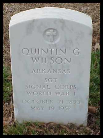 WILSON (VETERAN WWI), QUINTIN G - Pulaski County, Arkansas | QUINTIN G WILSON (VETERAN WWI) - Arkansas Gravestone Photos
