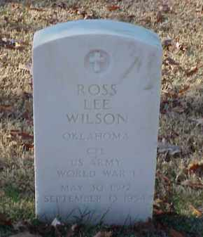 WILSON (VETERAN WWI), ROSS LEE - Pulaski County, Arkansas | ROSS LEE WILSON (VETERAN WWI) - Arkansas Gravestone Photos