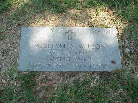 WILSON (VETERAN WWI), WILLIAM A - Pulaski County, Arkansas | WILLIAM A WILSON (VETERAN WWI) - Arkansas Gravestone Photos